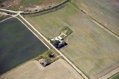 Landbouwbedrijven en gebieden stock foto