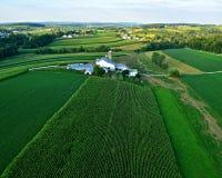 Landbouwbedrijven en gebieden van lancaster de pa van de provincie stock foto