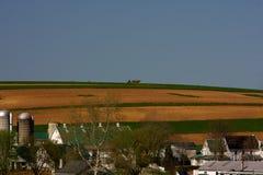 Landbouwbedrijven in Land Amish stock foto