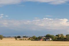 Landbouwbedrijven op Langeland royalty-vrije stock afbeeldingen