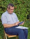 Landbouwer 2 van de boekhouding stock fotografie