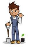 Landbouwer Cartoon Royalty-vrije Stock Fotografie