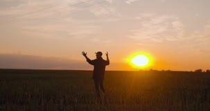 Landbouwer Celebrating Success stock video