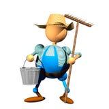 Landbouwer clipart Royalty-vrije Stock Foto