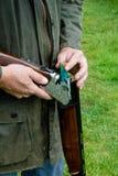 Landbouwer de West- van het land met een jachtgeweer Royalty-vrije Stock Fotografie