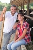 Landbouwer en zijn vrouw Stock Fotografie