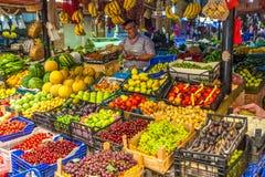 Landbouwer Market in Fethiye, Turkije stock fotografie