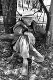 Landbouwer, mens in het platteland Australië Stock Foto
