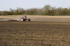 Landbouwer op Gebied Stock Foto's