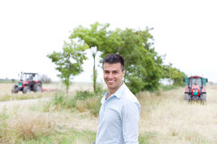 Landbouwer op het Gebied stock foto's
