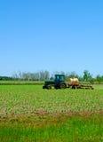 Landbouwer op het Gebied van de Lente Stock Foto