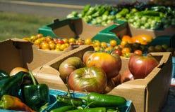 Landbouwersmarkt - Vers product Stock Afbeelding