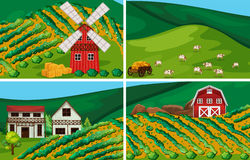 Landbouwgrond Royalty-vrije Stock Afbeeldingen