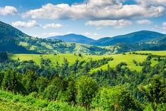 Landbouwgrond in de bergen Royalty-vrije Stock Afbeeldingen