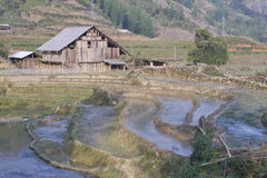 Landbouwgrond die die en op cultuur wordt geplant wachten Royalty-vrije Stock Foto