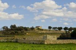 Landbouwgrond in Malta Stock Fotografie