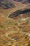 Landbouwgrond met landweg Stock Afbeelding