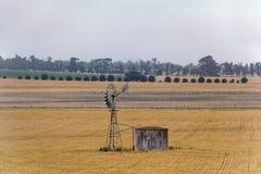 Landbouwgrond op plattelandsgebied Royalty-vrije Stock Afbeelding