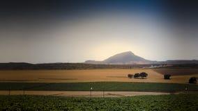 Landbouwgronden Castilla La Mancha Royalty-vrije Stock Afbeeldingen