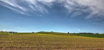 Landbouwgrondpanorama Royalty-vrije Stock Foto's