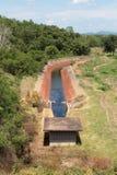 Landbouwkanaal stock afbeelding
