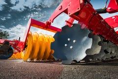 Landbouwmachines in markt Stock Afbeeldingen