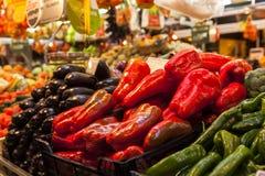 LANDBOUWmarkt IN SAO PAULO, BRAZILIË Stock Foto