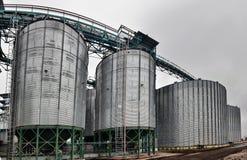 Landbouwsilo - de Bouwbuitenkant Stock Foto