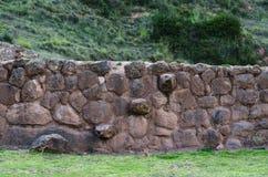 Landbouwterrassen in de Heilige Vallei De treden van de Incasteen, Moray in Cusco, Heilige Vallei, Peru stock fotografie