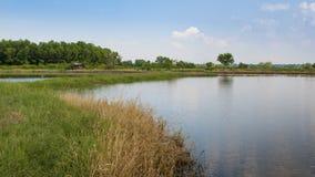 Landcape BEn Cau Tay Ninh Viet Nam Arkivfoto