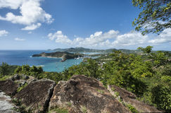 Landcape dell'isola dell'Antigua Fotografia Stock