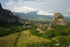 Landcape di Meteora immagini stock libere da diritti