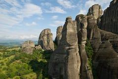 Landcape di Meteora fotografie stock