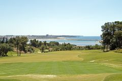 Landcape from a golf course in Portuga Stock Image