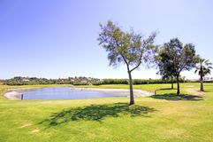 Landcape from a golf course in Portuga Royalty Free Stock Photos