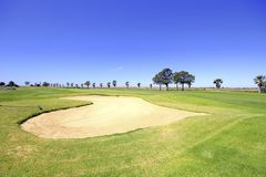 Landcape from a golf course in Portuga Royalty Free Stock Photography
