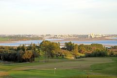 Landcape from a golf course in Portugal Royalty Free Stock Photo
