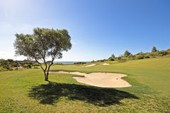 Landcape from a golf course in Portugal Stock Photography
