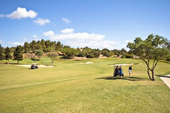 Landcape from a golf course in Portugal Stock Image