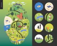 Landcape magique d'été Images libres de droits