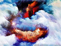 Landcape rêveur coloré illustration libre de droits
