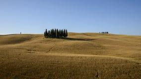 Landcape Toscana, dOrcia Val, Италия Стоковое Изображение
