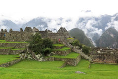 Landcape van Machu Picchu in Peru Stock Afbeeldingen