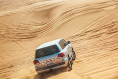 Landcruiser in Desert Safari Stock Image