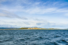 Landcsape of the Beagle Channel, Ushuaia, Argentina Royalty Free Stock Image
