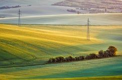 Landcsape di rotolamento di estate di Moravian fotografia stock libera da diritti