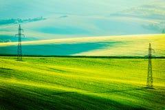 Landcsape di rotolamento di estate di Moravian fotografia stock