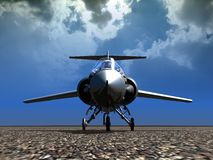 Landed fighter plane. Landed fighter F104 with pilot in Stock Image