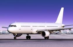 Landed passenger plane Royalty Free Stock Photography