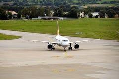 Landed Plane. A plane has landed at Stuttgart Airport Stock Images